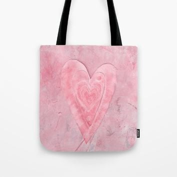 red white and pink all over valentine  Tote Bag by Beth Gilmore