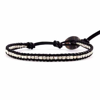 CHAN LUU ~ Single Black Leather Wrap