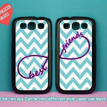 samsung galaxy S4 mini,Green Chevron and Best Friends,samsung galaxy S3 mini,samsung galaxy S3 case,samsung galaxy s4 active case