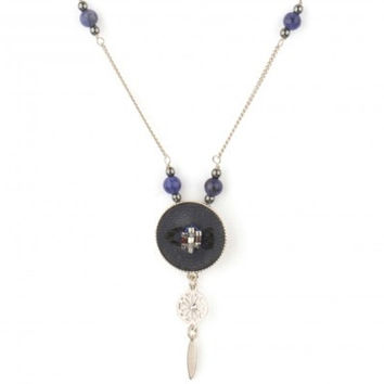Indian Amazon Blue Necklace by Satellite Paris