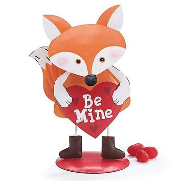 "Tin Fox ""Be Mine"" Bobblehead Figurine For Valentine's Day"