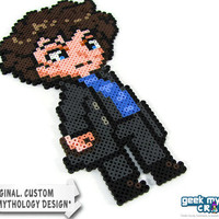 Sherlock Holmes Original Perler Bead Sprite Pixel Art Decoration