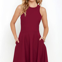 Now or Skater Burgundy Dress
