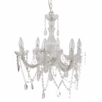 Alluringly Captive Winter Blanche Beaded Chandelier