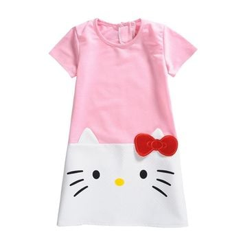 Baby Girls Dress For Girls 2018 Hot Sale Hello Kitty Princess Dresses Christmas Party Dress Children Kids Teen Clothing 2-10Y