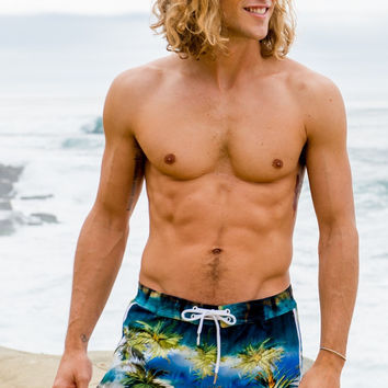 Sauvage Tahiti Palms Swim Trunk