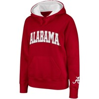 Alabama Crimson Tide Ladies Arched Name Hoodie - Crimson