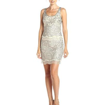 Adrianna Papell - Scalloped Sequins Dress 41912200