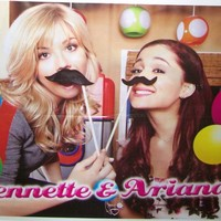 "JENNETTE McCURDY & ARIANA GRANDE - SAM & CAT - ONE DIRECTION 1D - 22""x16"" POSTER"
