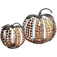Pier 1 Imports - Product Details - Jeweled Pumpkin Candleholders
