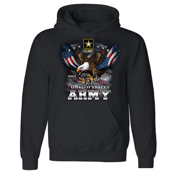 Zexpa Apparel™ United States Army Eagle Unisex Hoodie US Army Veteran USA Hooded Sweatshirt