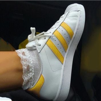"""Adidas"" Suprstar Flats Shoes Shell-toe Wome Men Sport Shoes Gold"