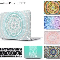 POSEIT For MAC Air13 11 Plastic Hard Cover Case For new Mac Book Pro 15 Retina12 inch Laptop Shell Cover+Keyboard Protector Film