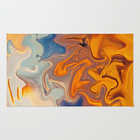 SKY ON FIRE Area & Throw Rug by Catspaws | Society6
