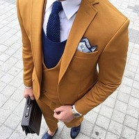Men's 3 Piece Double Breasted Suit