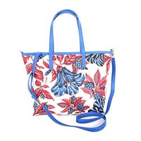 Tory Burch Kerrington Mini Square Tote Vermillion Oversized Floral