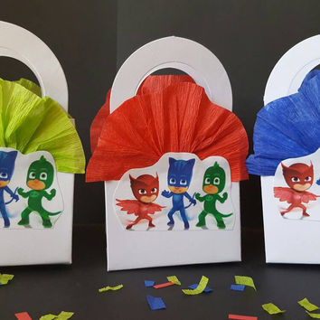 Mini party favor inspired by Pj mask