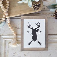 Deer/Antlers with Arrows Sign