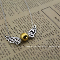 The Golden Snitch the harry potter necklace antique jewelry steampunk gift
