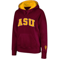 Arizona State Sun Devils Women's Arched Name Hoodie - Maroon