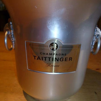 Vintage French Taittinger Champagne Ice Bucket by CafeParisien