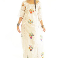 Beautiful Vintage Mexican Hand Embroidered Wedding Dresses