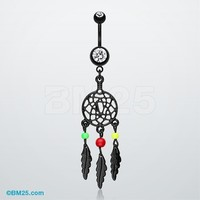 Enchanted Links Dream Catcher Belly Ring