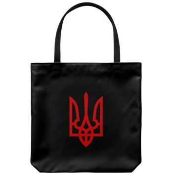Tryzub (Red) - Tote Bag