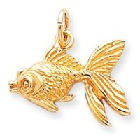 FISH Charm in 10k Yellow Gold