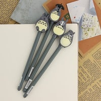 1pcs Writing Tool Supplies Cute My Neighbor Totoro Gel Ink Pen Escolar Office Gel Pens Learning Essential Stationery Child Gifts