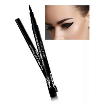 CREYWQA Super Black Waterproof Liquid Eyeliner Pencil Eye Liner Pen Lady Cosmetics Make Up Eye Marker Beauty Essentials Eyeliner Contour