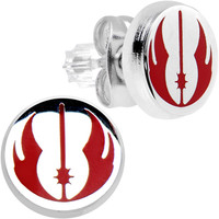 2:07:49:40 | Officially Licensed Steel Star Wars Jedi Order Stud Earrings | Body Candy Body Jewelry