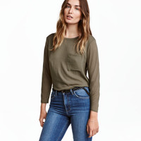 H&M Top with Woven Front Section $9.99