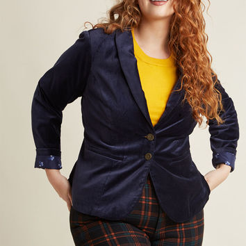 Velvet Executive Blazer in Navy