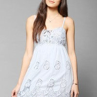 Pins And Needles Crochet Lace-Up Bodice Dress - Urban Outfitters