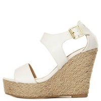 Cut-Out Espadrille Platform Wedge Sandals by Charlotte Russe