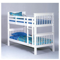 Sadler Twin over Twin White Bunkbed