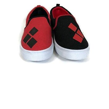 DC Comics Women's Ladies Harley Quinn Slip on Sneaker