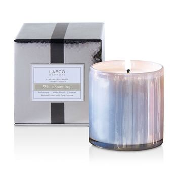 White Snowdrop Candle