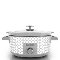 Bd 7qt Slow Cooker Geo Cream
