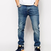 ASOS | ASOS Stretch Slim Jeans In Mid Wash at ASOS