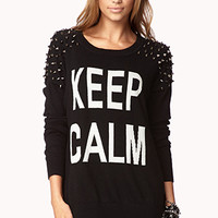 Spiked Keep Calm Sweater