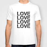 LOVE 1 T-shirt by White Print Design