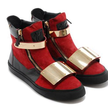 Giuseppe Zanotti Men's Suede Leather Fashion High Top Sneakers Shoes