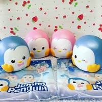 20cm HUGE Jumbo penguin squishies! by Puni Maru licensed rare ~ scented