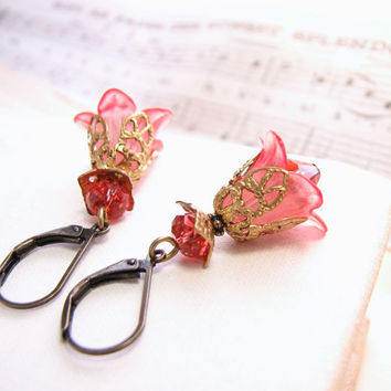 Bridesmaids Jewelry Blush Pink filigree shabby by shadowjewels