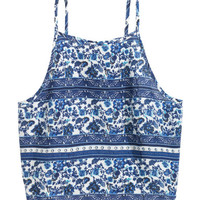 H&M Short Patterned Camisole Top $12.99