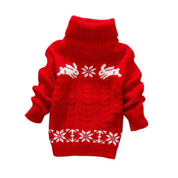 baby girls autumn sweaters  fashion long sleeve turleneck clothes children winter cartoon outwear ws243