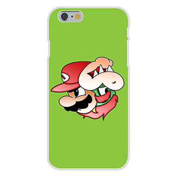Apple iPhone 6 Custom Case White Plastic Snap On - 'Plumbers Good Bad Yin Yang' Video Game Parody