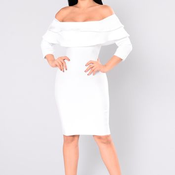 Anastasia Bandage Dress - White